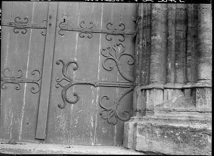 Façade ouest : vantaux de la porte sud