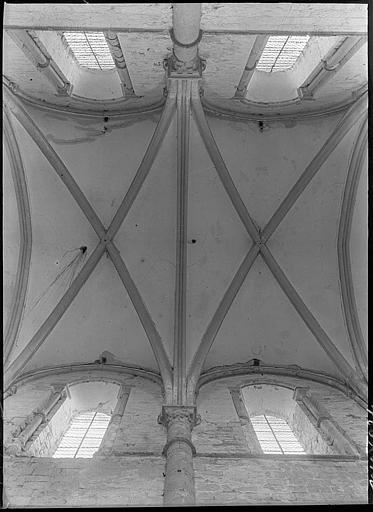 Intérieur : voûtes de la nef