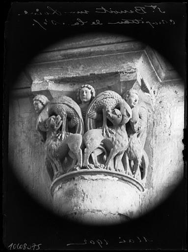 Intérieur : chapiteau du triforium de la nef