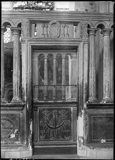 Intérieur : clôture de chapelle, boiseries