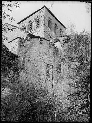 Partie supérieure du clocher côté ouest