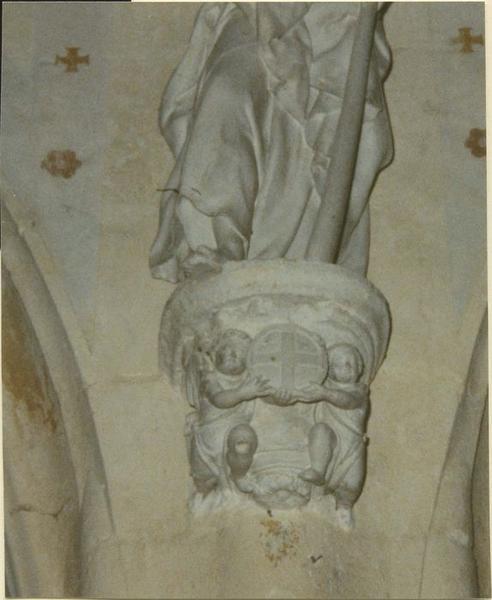 Statue: saint Jacques le mineur, détail de la console