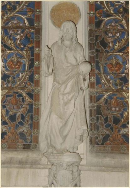 Statue : Christ portant le globe, vue générale