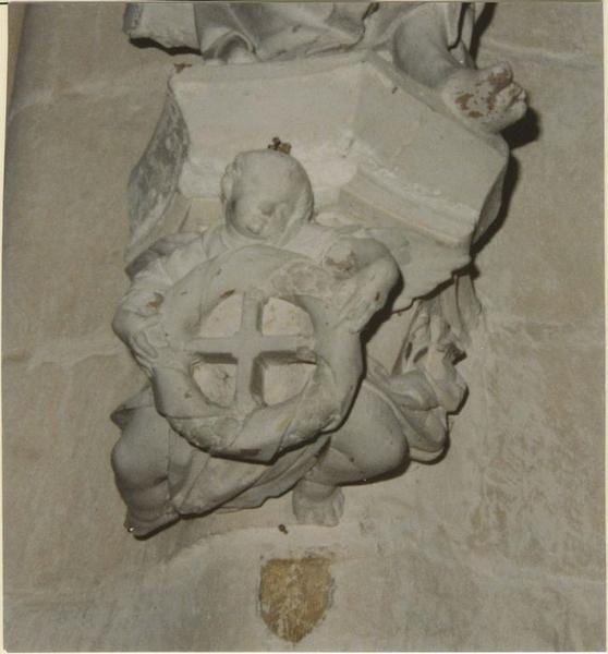 Statue: saint Simon, détail de la console