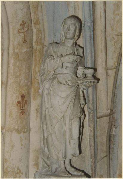 Statue : Saint Jean l'Évangéliste et socle