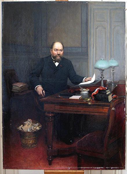 Tableau : portrait de Louis-Léon Bérard, maire de Bar-sur-Aube