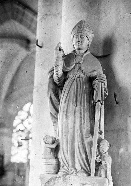 Groupe sculpté : Saint Nicolas et donateur