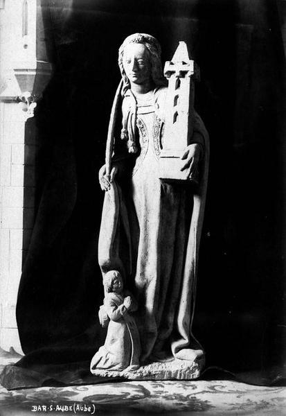 Statue : Sainte Barbe et donateur