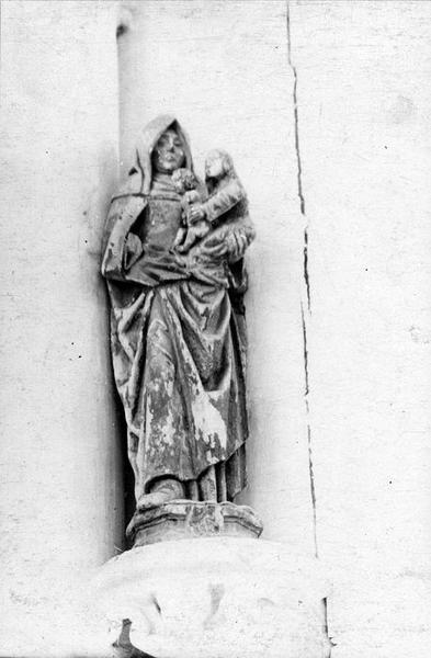 Groupe sculpté : Sainte Anne et la Vierge à l'Enfant (disparu)