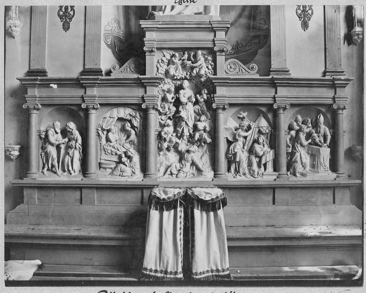 Retable : Scènes de la vie de la Vierge et de la vie du Christ