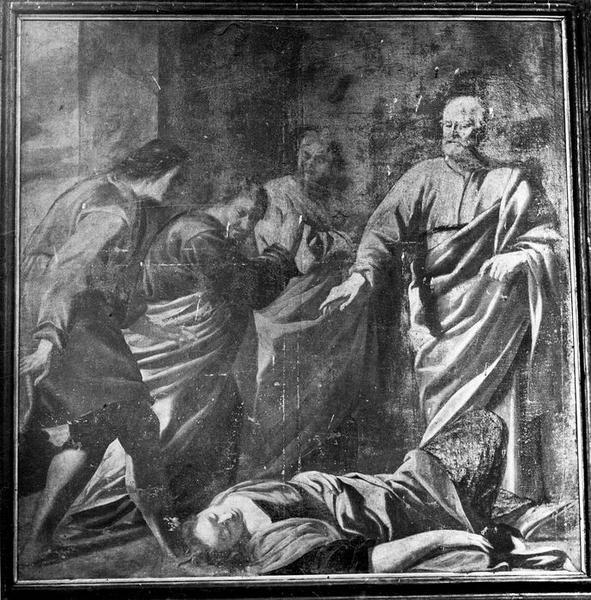 Tableau : Mort de Saphine (détruit)