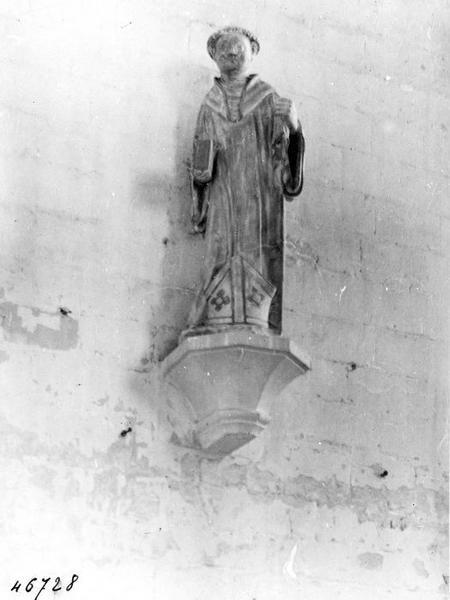 2 statues : Saint Basle ermite, saint Léonard de Corbigny abbé