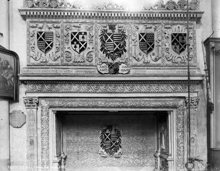 enfeu et dalle funéraire d'Elion d'Amoncourt, vue générale