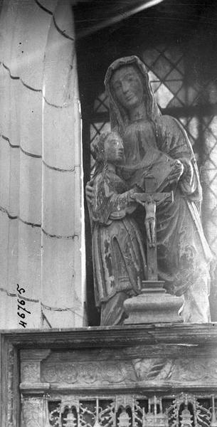 Groupe sculpté : Éducation de la Vierge