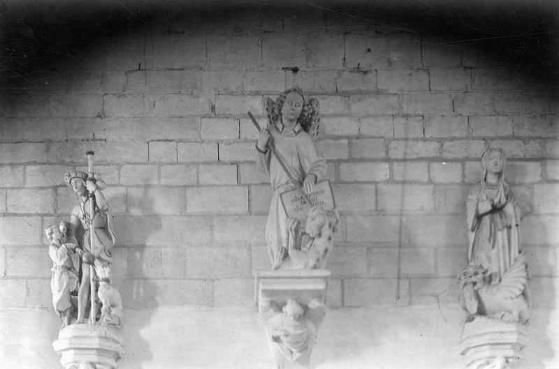 Statue : Saint Roch (déposée en mairie)