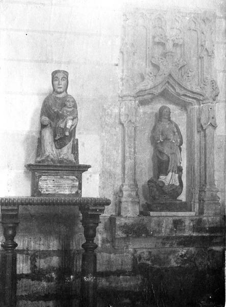 statues : Vierge à l'Enfant, sainte Marguerite, vue générale