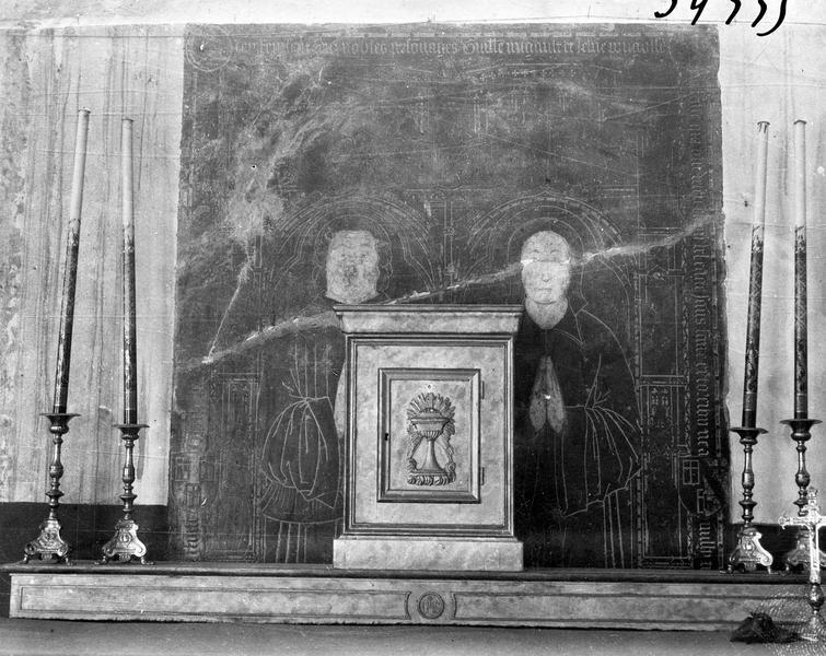 Dalle funéraire de Guillaume Migault et de Jeanne Pougeaoise, sa femme, et de leurs enfants