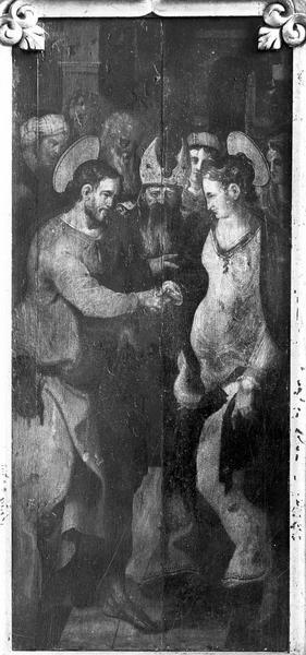 Panneau peint : Mariage de la Vierge