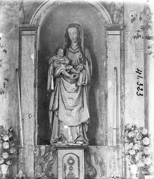 Groupe sculpté (petite nature) : Vierge à l'Enfant