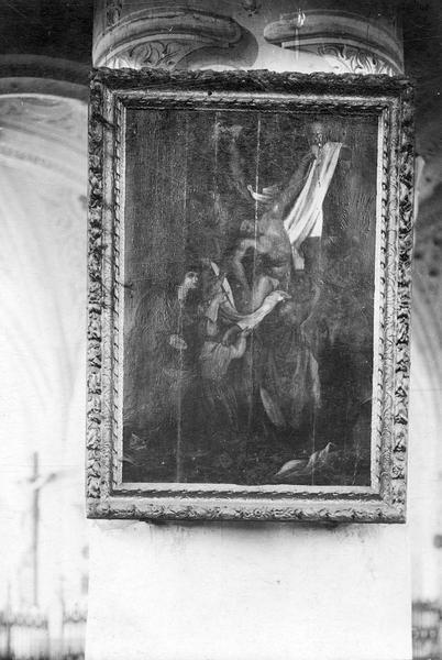 Tableau : Descente de Croix et cadre