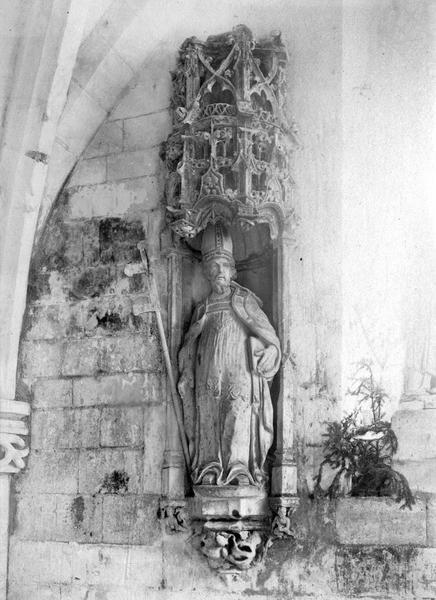 statue : saint Claude, vue générale