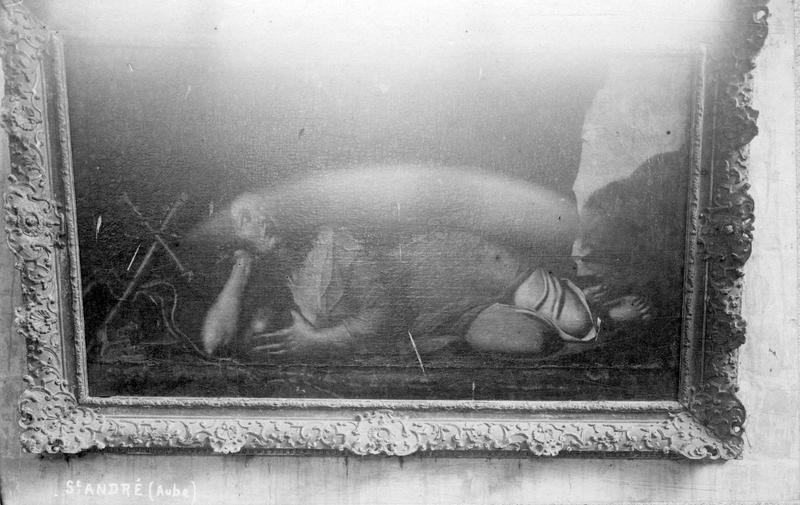 Tableau : Marie-Madeleine au désert et cadre
