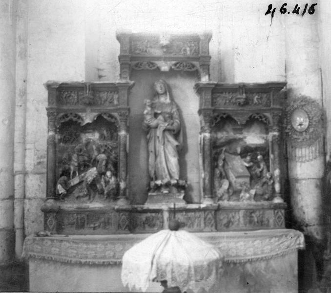 Retable : Passion du Christ, vie de saint Lupien