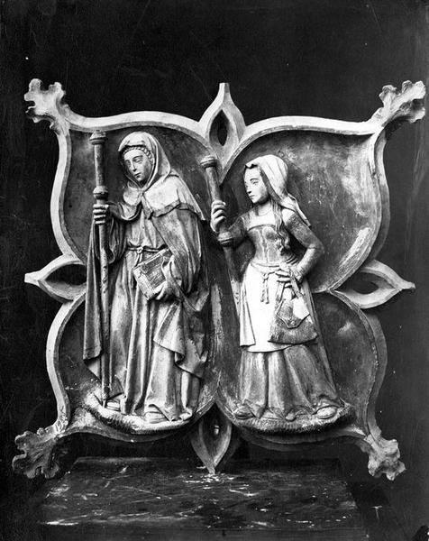 clef de voûte : sainte Savine et sainte Maximiniole, vue générale