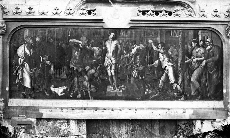 tableau : Martyre de saint Sébastien, vue générale