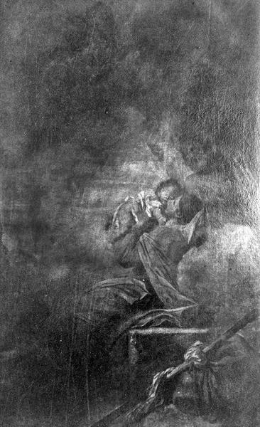 tableau : Repos de la Sainte-Famille (déposé au musée des Beaux-Arts de Troyes), vue générale
