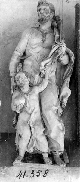 groupe sculpté : saint Joseph et l'Enfant Jésus, vue générale
