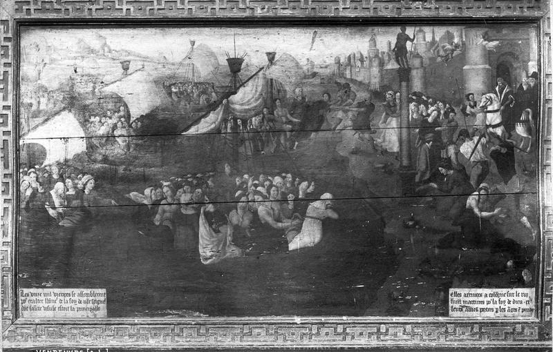 Panneau peint : Sainte Ursule et les onze mille vierges