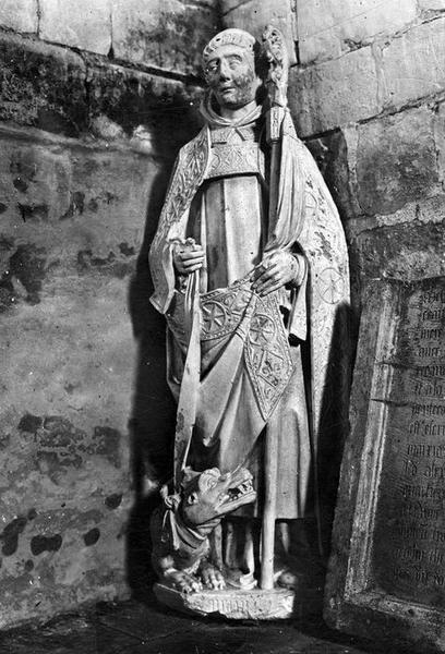 statue : saint Maur, vue générale