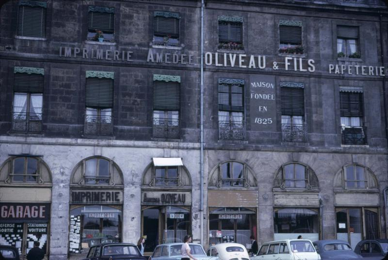 Façades d'immeubles non restaurées
