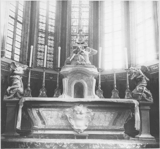 Groupe sculpté : Les symboles des évangélistes