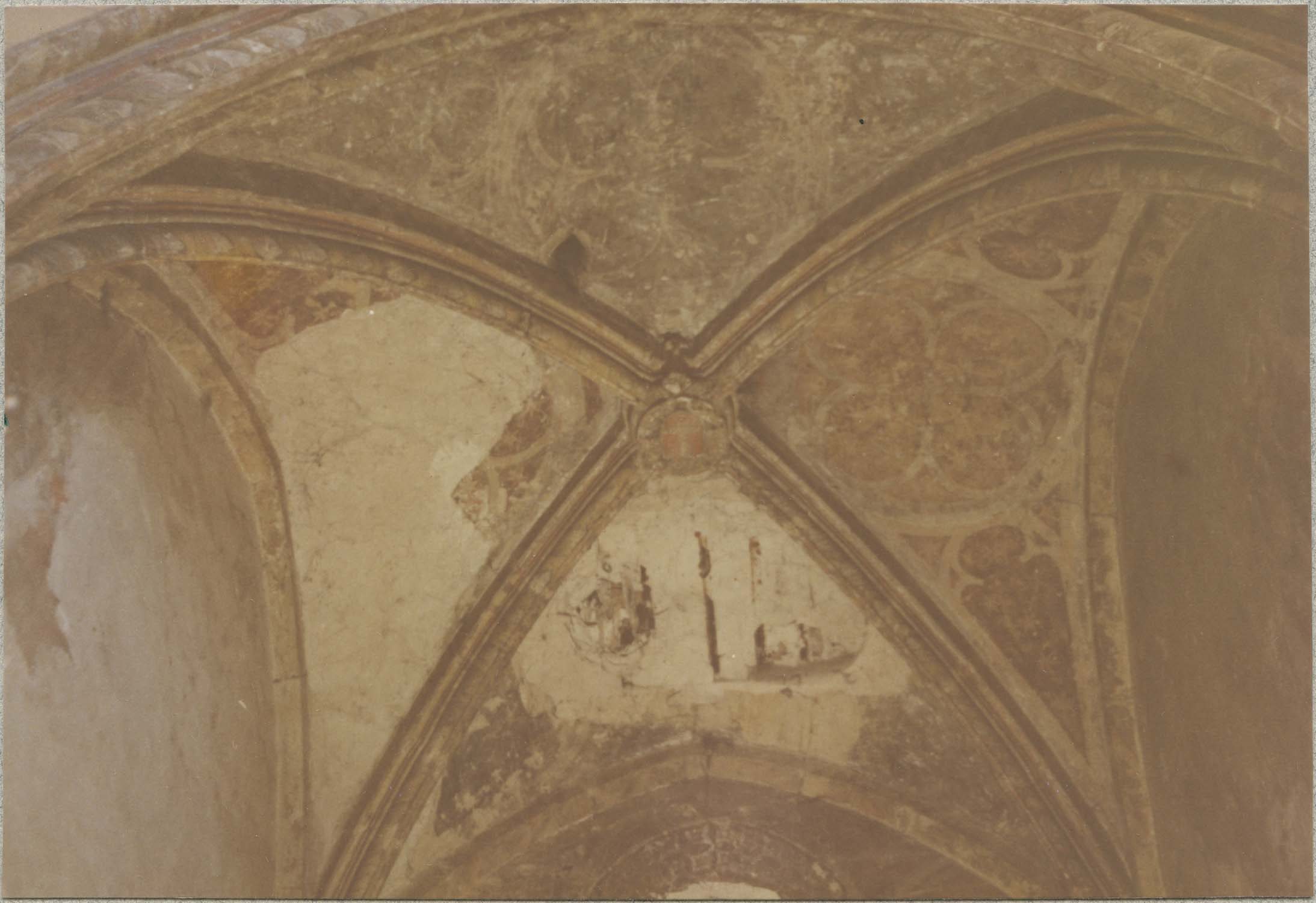 peintures monumentales : scènes de la vie bénédictine, vue partielle