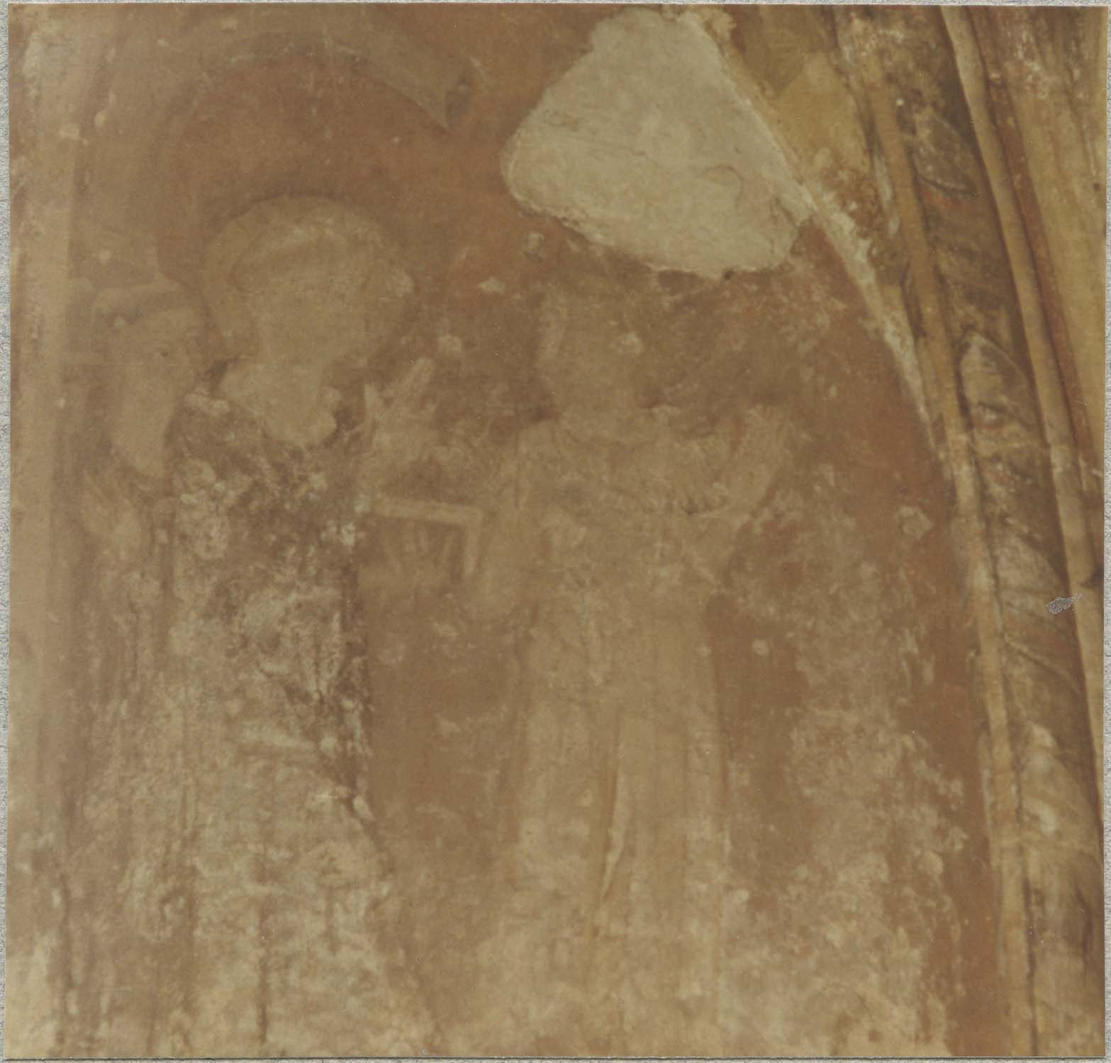 Peintures monumentales : scènes de la vie bénédictine, détail côté est