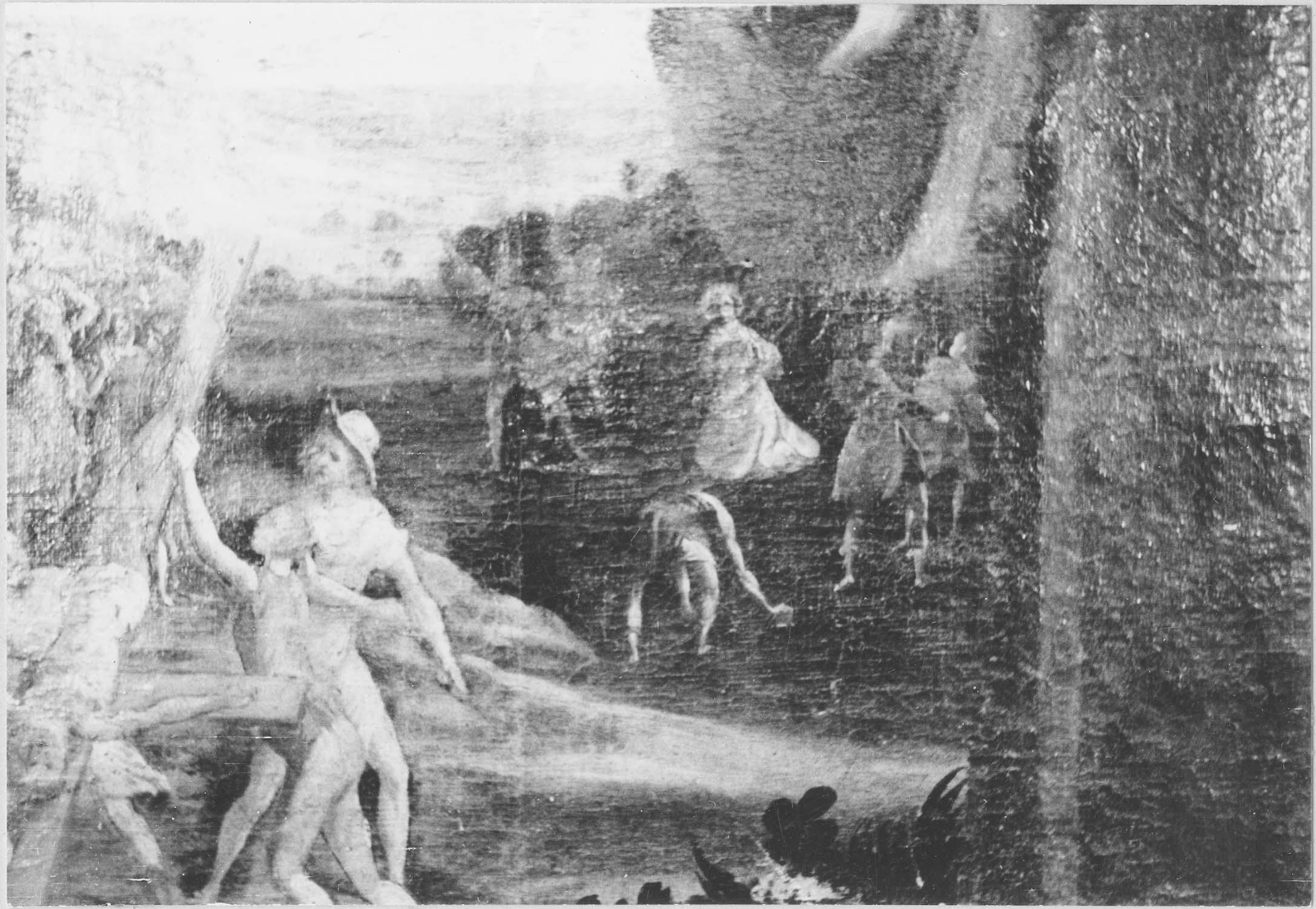 Tableau d'autel : saint Pierre et saint Etienne, détail