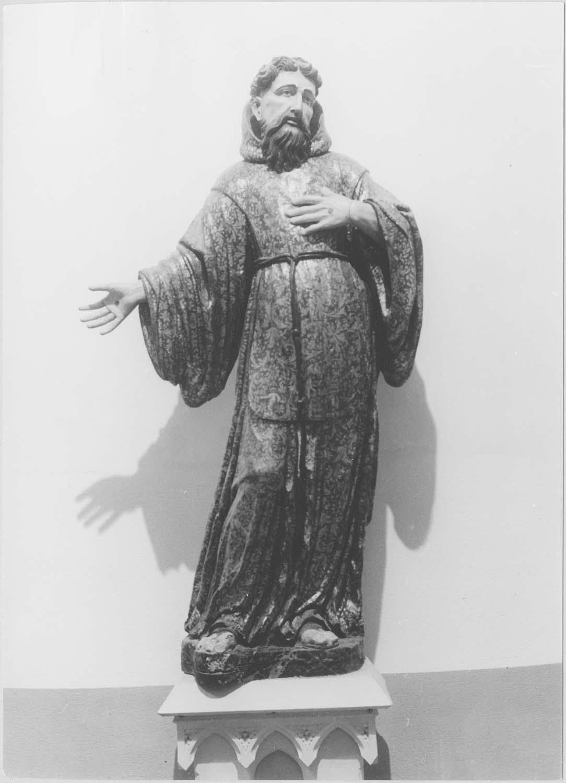 statue : saint François d'Assise, vue générale
