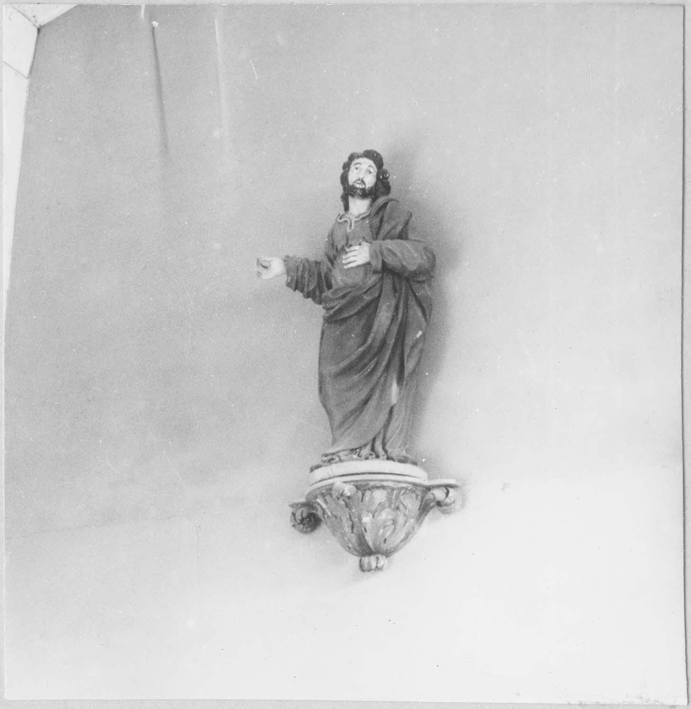 statue : saint Jean l'Evangéliste, piédestal, vue générale