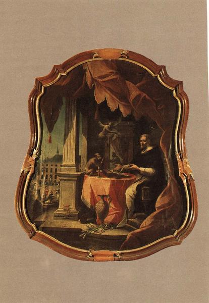 tableau, cadre : Saint Dominique et les démons, vue générale