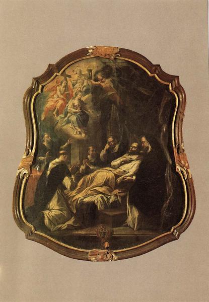 tableau, cadre : la mort de saint Dominique, vue générale