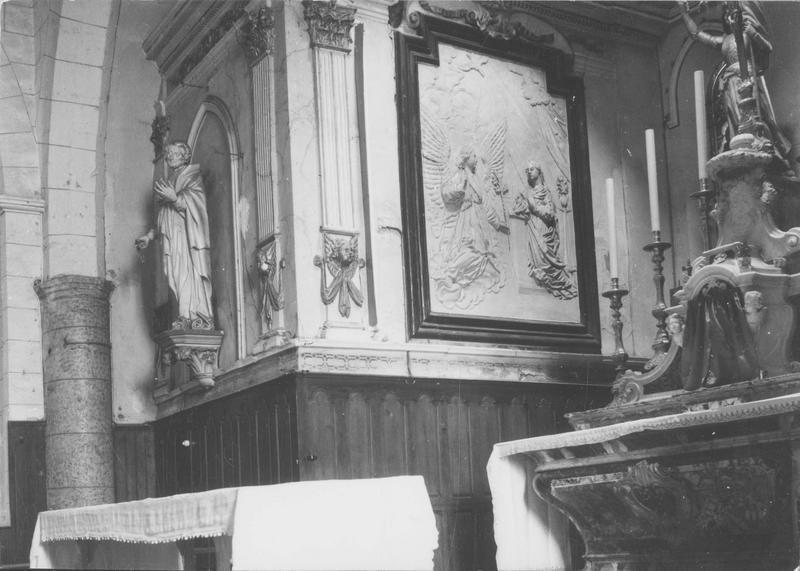 maître-autel, détail: saint Michel terrassant le dragon