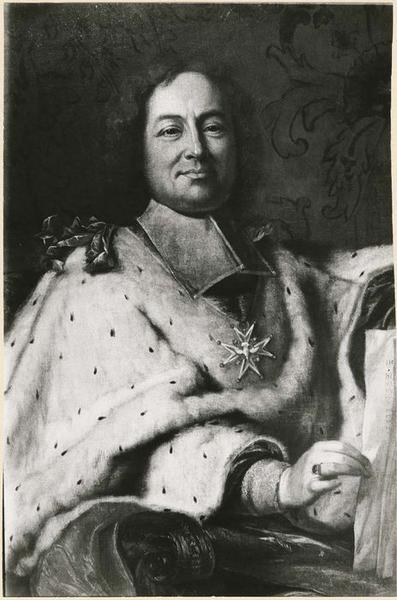 tableau : Monseigneur de Beauvau du Rivau, archevêque de Narbonne, vue partielle