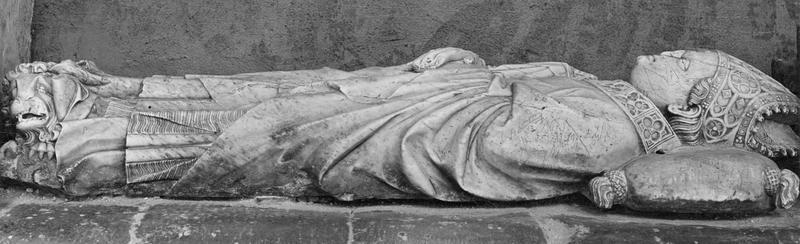 monument funéraire de Jean de Cojordan, évêque d'Avignon puis de Mirepoix, vue partielle