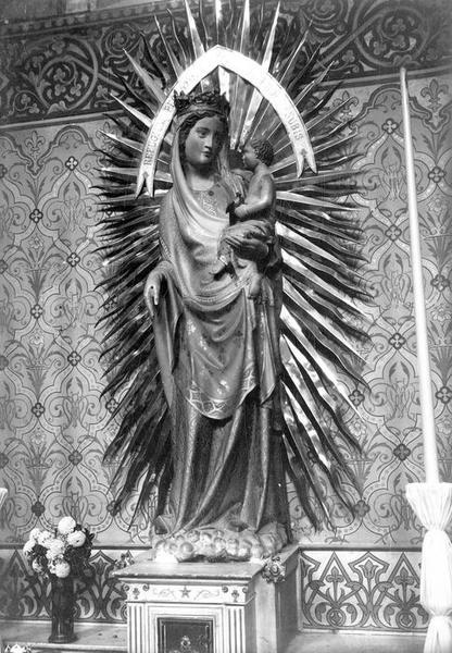 Statue : Vierge à l'Enfant dite Notre-Dame de la Rominguière, vue générale