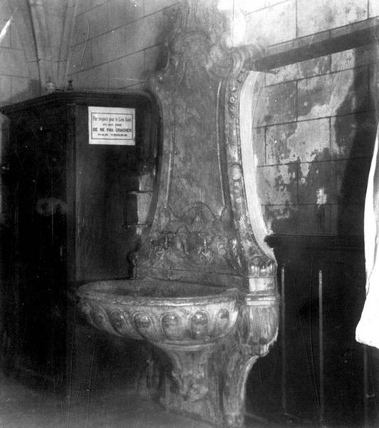 Lavabo de sacristie (fontaine-lavabo)