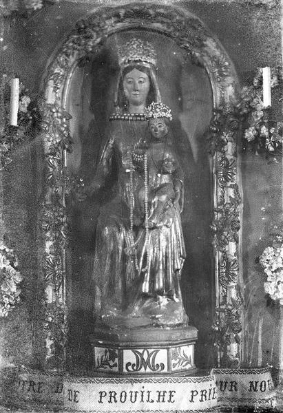 statue : Vierge à l'Enfant assise dite Notre-Dame de Prouille, vue générale