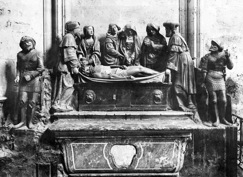 groupe sculpté : La Mise au tombeau, vue générale