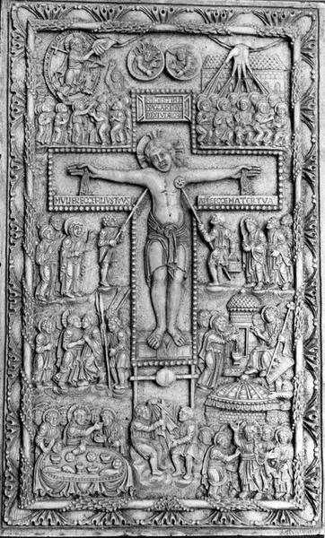 relief : Scènes de la vie du Christ, dit ivoire de la Crucifixion, vue générale
